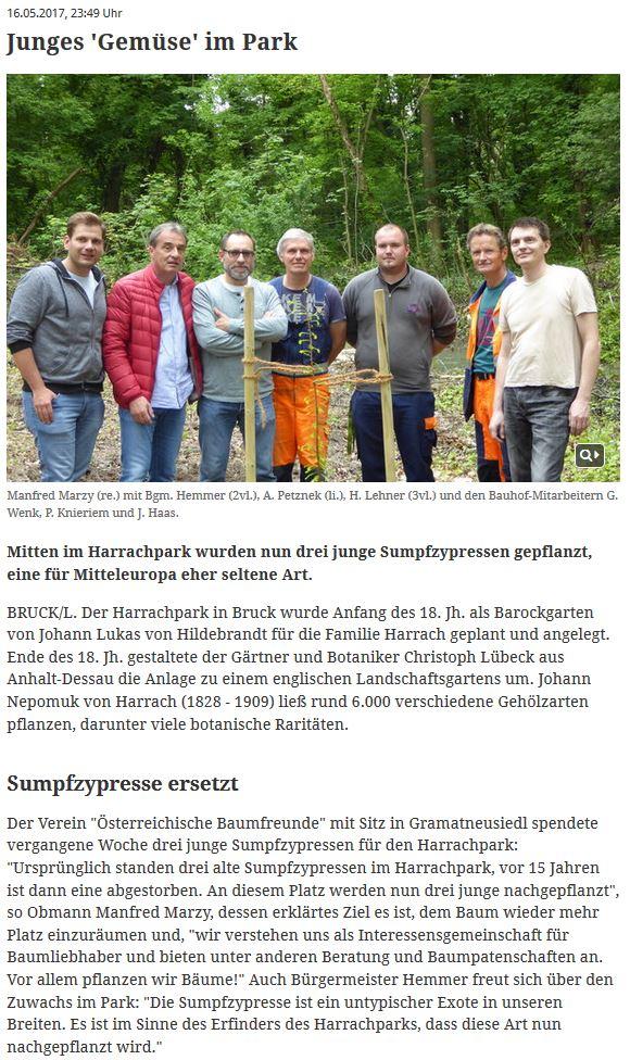 Online-Artikel im Bezirksblatt