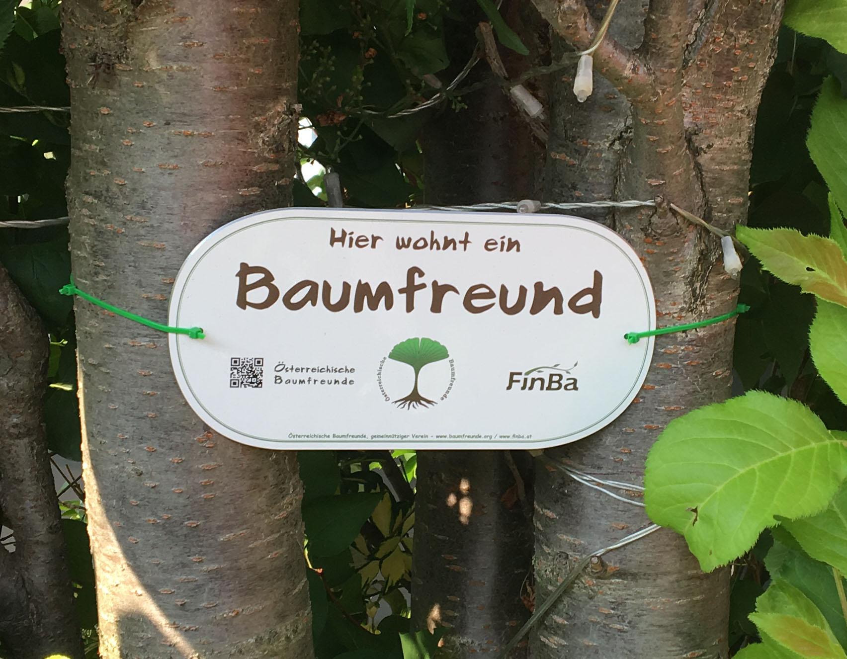 Zauntafel Baumfreund