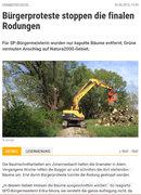 NÖN Online-Artikel Rodung Windschutzgürtel 2015