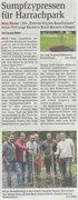 NÖN Artikel über die Pflanzung im Harrackpark